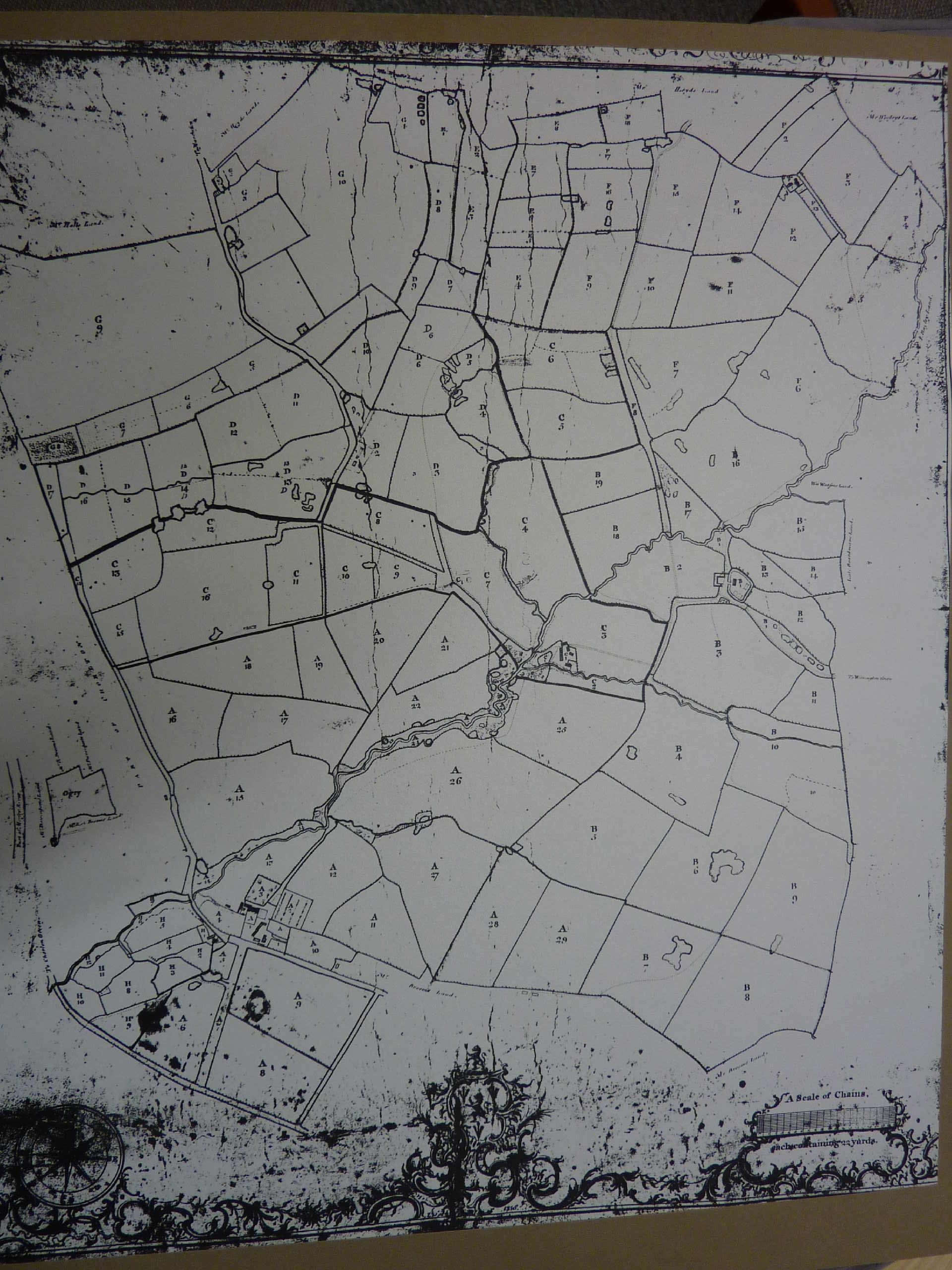 OLD ORDNANCE SURVEY MAP WITHINGTON LADYBARN /& BURNAGE 1934